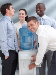 Concerted activity around water cooler